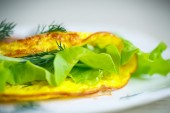 Roasted omelet — Stock Photo