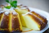 Cottage cheese casserole — Stock Photo