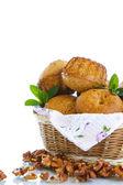 Walnut muffins — Stock Photo