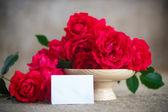 赤いバラの美しい花束 — ストック写真