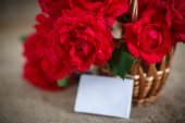 Beautiful bouquet of red roses — Stock Photo