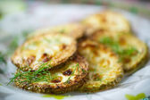 Fried zucchini — Stock Photo