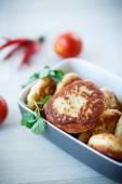 Fish fried patties — Stock Photo