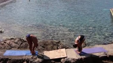 Sun salutation, less poses (first part) — Wideo stockowe