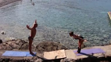 Sun salutation, more poses (first part) — Wideo stockowe