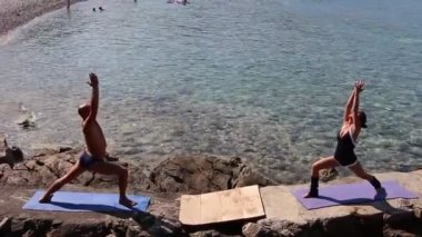 Sun salutation, more poses (second part) — Wideo stockowe