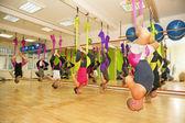 Aerial yoga — Stock Photo