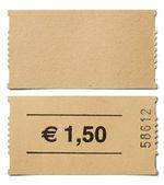 Ticket stub isolated on white  — Stock Photo