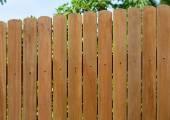 Garden wooden fence — Stock Photo