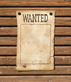 Wanted blank paper sheet. Wild west poster. — Stock Photo