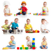 Little boys 1-2 years old isolated on white — Stock Photo
