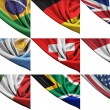 Set of different state flags including USA, UK, Germany, Italy, etc. — Stock Photo #54682909