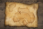 Pirates old treasure map — Stock Photo