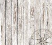 Vintage wood background with compass — Стоковое фото