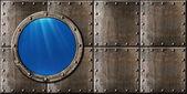 Denizaltı Lombar buhar punk metal arka plan — Stok fotoğraf