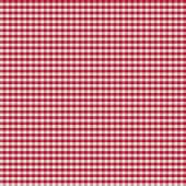 Table covered by red checkered tablecloth or gingham cloth — Stockfoto
