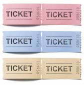 Pair of old vintage paper tickets set isolated — Stock Photo