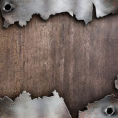 Torn rusty metal background — Stock Photo