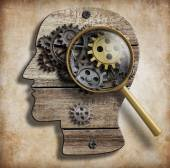 Brain gears and cogs. Mental illness, psychology, invention and idea concept. — Stock Photo