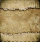 Starý roztrhaný papír vinobraní mapovém podkladu — Stock fotografie