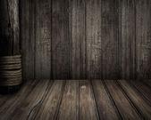 Old wooden scene as pirates theme background — Stockfoto