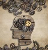Brain mental activity and idea concept — Stock Photo