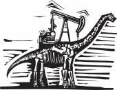 Brontosaurus Oil Well Pump — Stock Vector