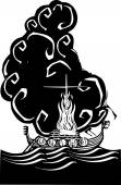 Viking Funeral — Stock Vector