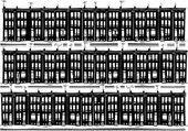 Urban Row Homes — Stock Vector