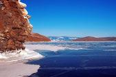 Winter Lake Baikal — Стоковое фото