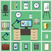 Office stuff — Stock Vector