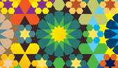 Colorful geometrical pattern — Vettoriale Stock