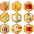 Set business icons — Stock Vector #56079537