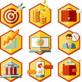 Set business icons — Stock Vector