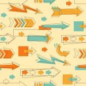 Doodle arrows pattern — Stockvektor