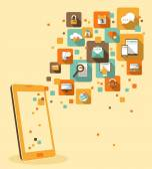 Concepto de aplicación móvil — Vector de stock