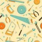 Bezszwowe tło z narzędzi ręcznych — Wektor stockowy