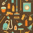 Cleaning tools seamless background — Stock Vector #59179989