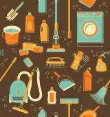 Fondo transparente de herramientas de limpieza — Vector de stock