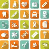 Set of medical icons in flat style — Stock Vector