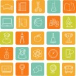 Flat education icons — Stock Vector #61044261