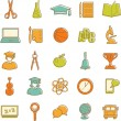 Flat education icons — Stock Vector #61045265