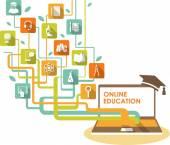 Online vzdělávání koncept — Stock vektor