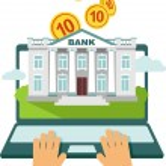 Online banking concept — Stock Vector #64299665