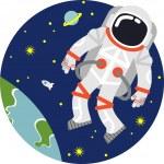 Astronaut in space — Stock Vector #65517617