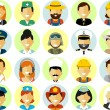 People occupation characters avatars set in flat style — Stock Vector #71029965