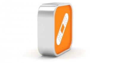 Självhäftande bandage tecken — Stockvideo