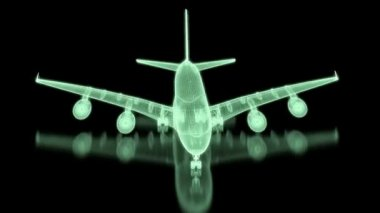Commercial Aircraft  Mesh — Stock Video
