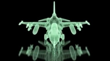 Jet Fighter Aircraft  Mesh — Stock Video