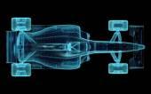 Formula One Mesh — Stock Photo